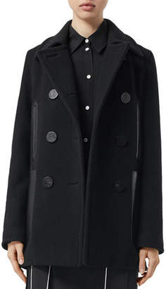 Burberry Mossley Wool Pea Coat