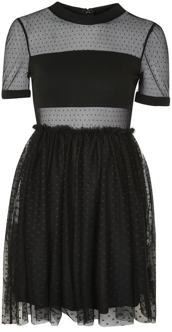 Topshop Topshop Spot mesh tulle prom dress