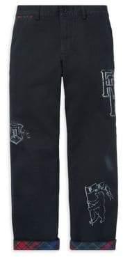 Ralph Lauren Childrenswear Boy's Flat-Front Cotton Chino Pants