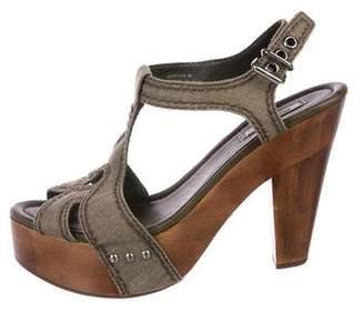 Miu Miu Woven Platform Sandals