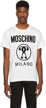 Moschino White Milano Logo T-Shirt