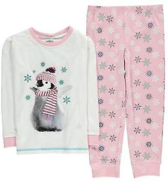 Crafted Kids Girls Print Pyjama Set Child Long Sleeve Crew Neck Lightweight