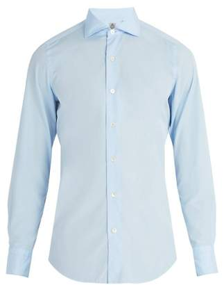 Finamore 1925 - Seattle Cotton Poplin Shirt - Mens - Light Blue