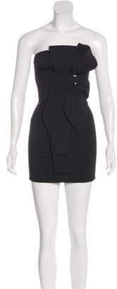 Antonio Berardi Bow-Accented Strapless Dress Black Bow-Accented Strapless Dress