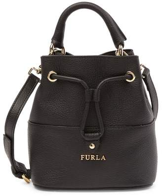 Furla Brooklyn Mini Leather Drawstring Bag