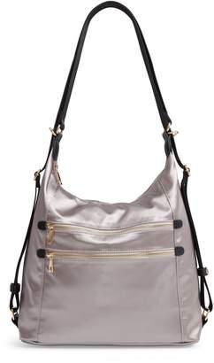 Sondra Roberts Satin Convertible Hobo Backpack