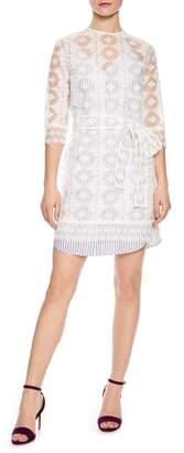 Sandro Lace Overlay Dress