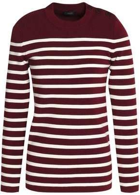 Joseph Striped Merino Wool-Blend Sweater