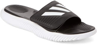 adidas White & Black Alpha Bounce Slide Sandals