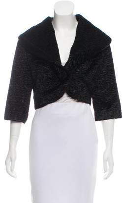 Cassin Sherry Faux Persian Lamb Shawl Collar Jacket
