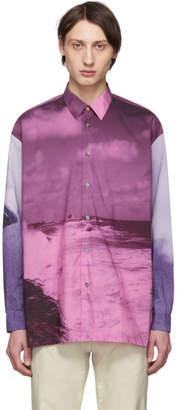 Paul Smith Purple Pauls Photo Oversized Shirt