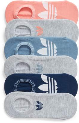 adidas 6-Pack Trefoil Superlite No-Show Socks