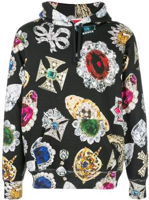 Supreme jewel print hoodie