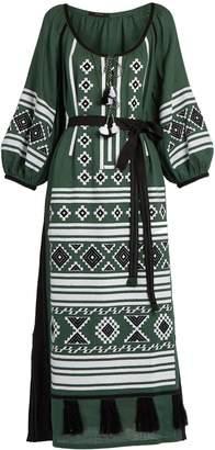 VITA KIN Croatia embroidered linen dress