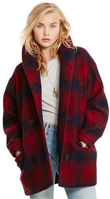 Ralph Lauren Denim & Supply Plaid Wool Shawl Coat $398 thestylecure.com
