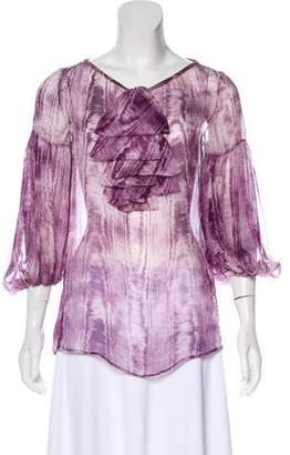 Giambattista Valli Silk Patterned Blouse