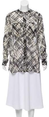 Vince Silk Button-Up Tunic