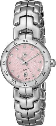Tag Heuer Women's THWAT1415BA0954 Link Analog Display Swiss Quartz Silver Watch