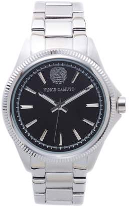 Vince Camuto Corrugated-bezel Watch