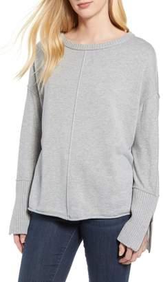 Caslon Zip Cuff Sweater (Regular   Petite) e0ba3bb89