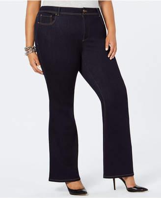 INC International Concepts I.n.c. Plus Size Bootcut Tummy Control Jeans