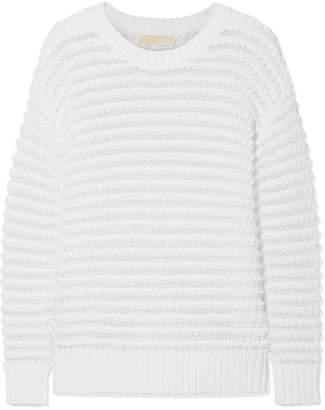 MICHAEL Michael Kors Open-knit Cotton-blend Sweater