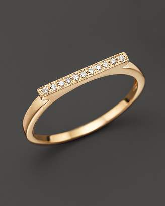 Sylvie Dana Rebecca Designs Diamond Rose Ring in 14K Yellow Gold