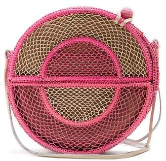 Sophie Anderson - Nilsa Circle Toquilla Straw Cross Body Bag - Womens - Pink Multi