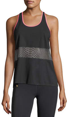Monreal London Scoop-Neck Racerback Mesh Tank