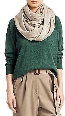 Brunello Cucinelli Women's Metallic Cashmere Silk Scarf