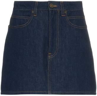 Calvin Klein Jeans Est. 1978 logo back denim mini skirt
