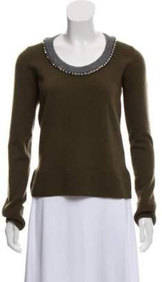 No.21 No. 21 Rhinestone-Embellished Lightweight Wool Sweater w/ Tags