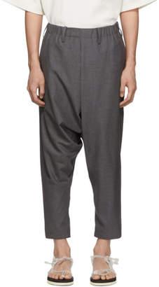 Issey Miyake Grey Wool Poplin Trousers
