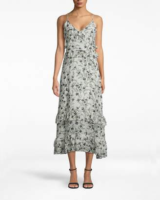 Nicole Miller Flower Patch Silk Midi Dress