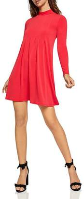 BCBGeneration Mock-Neck Pleated Dress