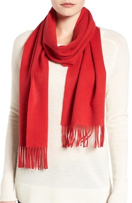 Women's Nordstrom Solid Woven Cashmere Scarf $99 thestylecure.com