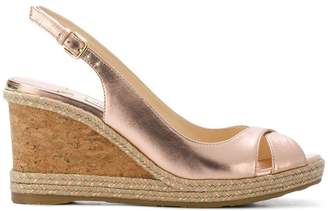 Jimmy Choo Amley 80 metallic wedges