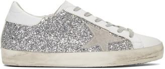 Golden Goose SSENSE Exclusive Silver Superstar Sneakers $495 thestylecure.com