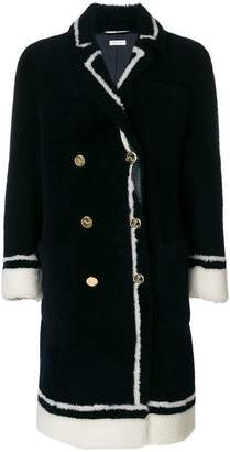 Thom Browne Dyed Shearling Sack Overcoat