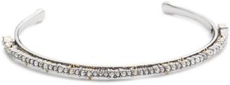 Alexis Bittar Crystal Lace Orbiting Cuff Bracelet