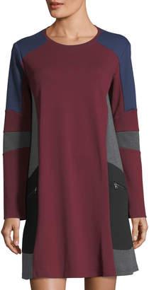 BCBGMAXAZRIA Colorblock Shift Dress