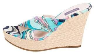 Emilio Pucci Slide Wedge Sandals