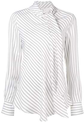 See by Chloe striped tie neck blouse