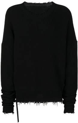 Unravel Project oversized frayed hem sweater