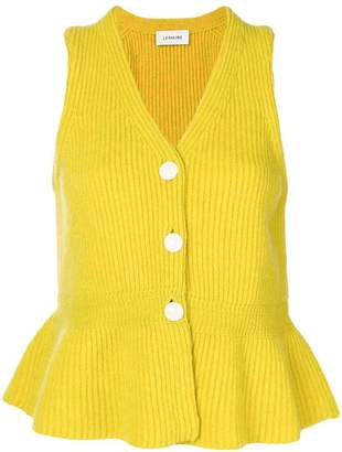 Lemaire knitted peplum vest