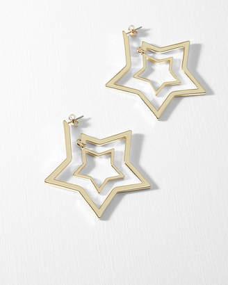 Ted Baker ICIEE Star hoop earrings