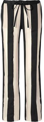 Marques Almeida Marques' Almeida - Striped Cotton And Silk-blend Gauze Pants - Black