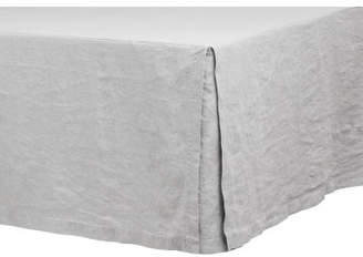 H&M Washed Linen Bedskirt - Gray