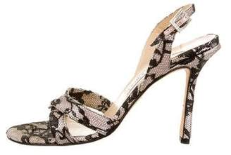 Jimmy Choo Lace Embellished Slingback Sandals