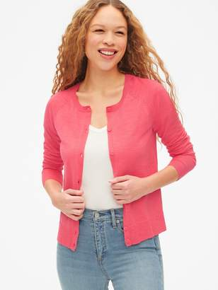 Gap Cardigan Sweater in Slub Cotton